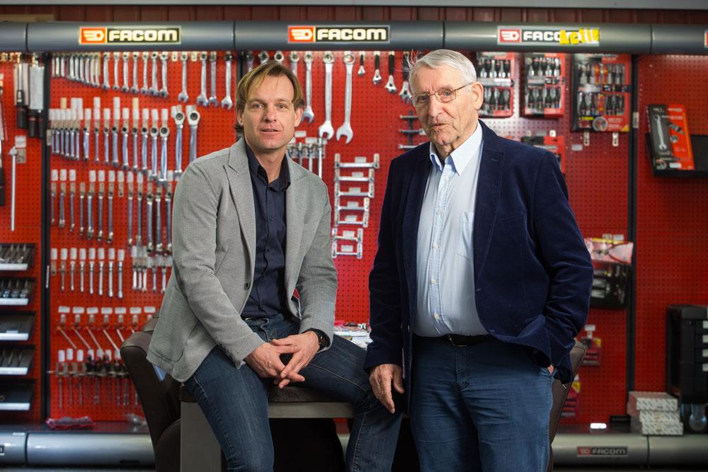Oprichter en directeur: Antoon en zijn zoon Johan